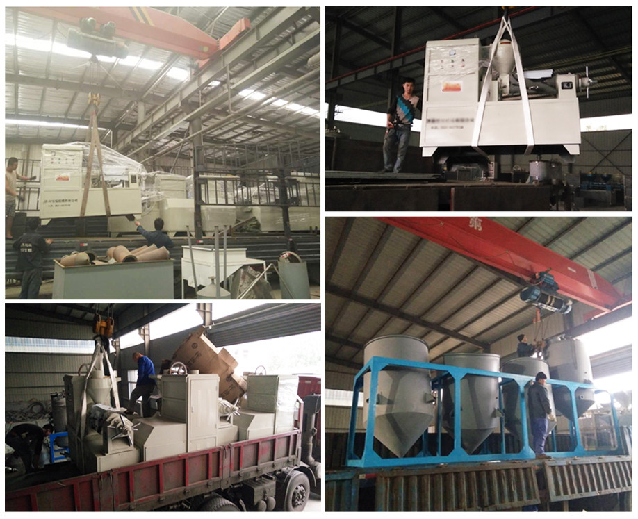 Set of rice bran oil press production line