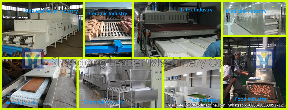 High efficiency microwave dryer / tobacco dryer /tunnel tea leaf microwave dryer