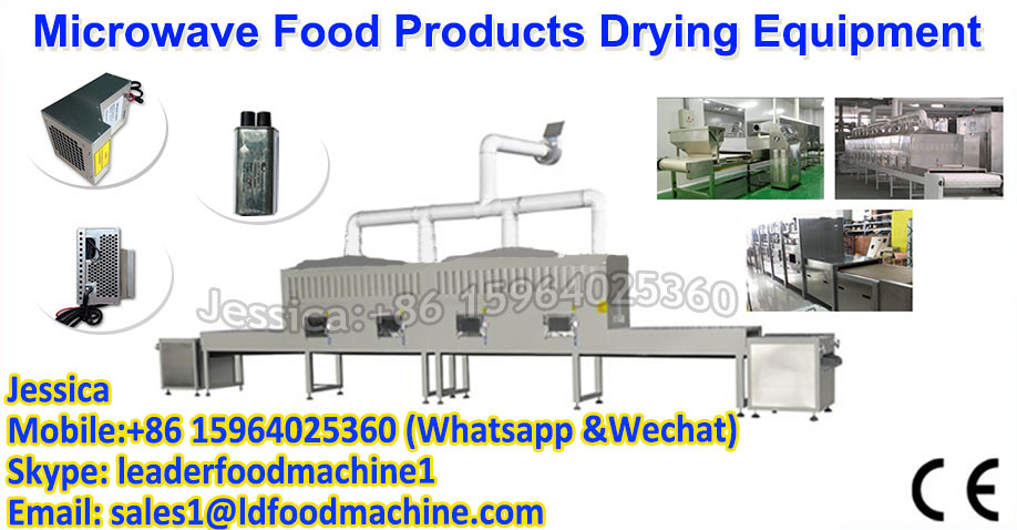 microwave dryer in fruit/vegetable processing machines