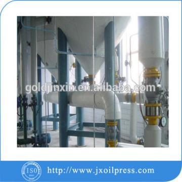 Corn oil refinery plant for semi-continuous process