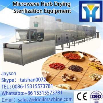 Industrial tunnel type microwave drying and sterilizing oven for spices powder