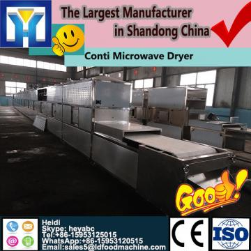 Professional continuous microwave dryer/sterilization for bay leaves