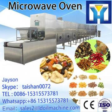 Efficient tunnel microwave drying/sterilizing machine for calculus bovis