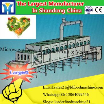Large capacity microwave herb drying machine process