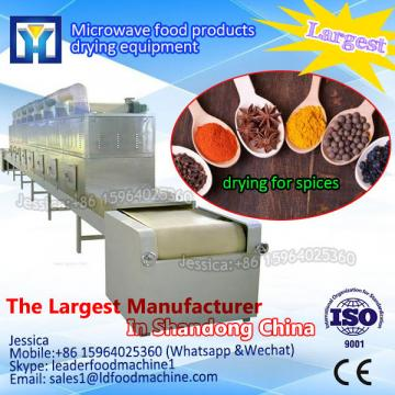 Water cooling tunnel covered microwave drying machine
