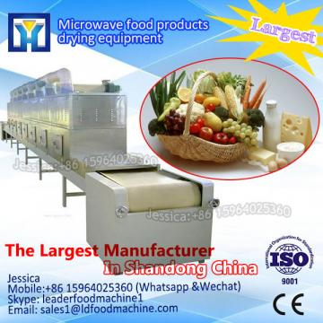 Stainless steel PLC control full automatic vegetable fruits microwave sterilization equipment