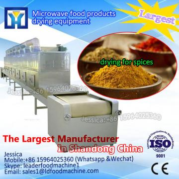 microwave drying and sterilizing device for bean product