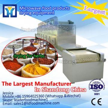 Tunnel vacuum microwave conveyor dryer machine