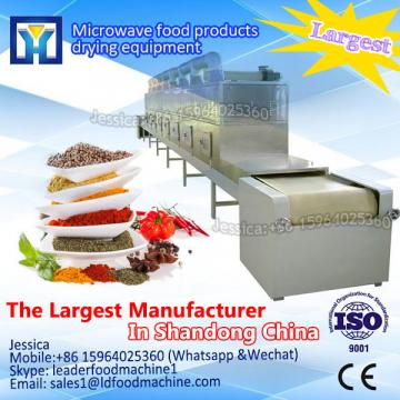 Continuous tunnel belt microwave dryer and sterilizier