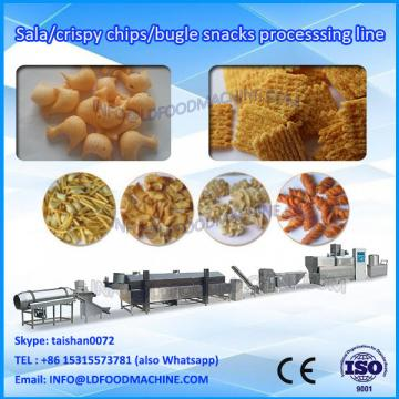 Double Screw Extruded Fried Wheat Pellets Bugles make machinery