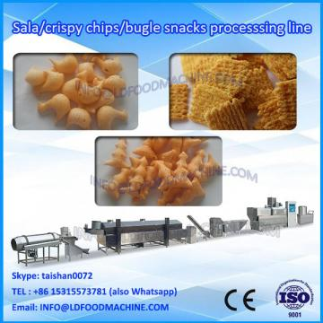 Extruded Wheat flour Bugles chips frying snacks food processing line