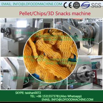 full automatic extruded snack pellets 3D Food machinery line