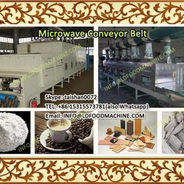 Conveyor belt microwave drying and sterilization machinery for flaxseed