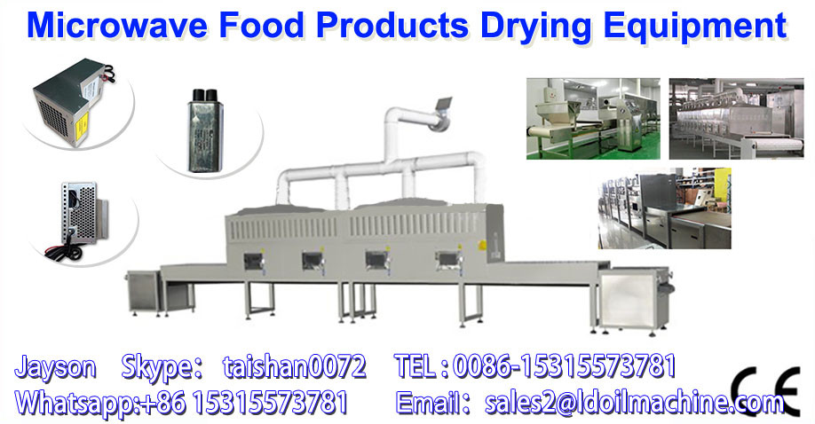 continuous microwave spice powder dryer sterilizer / powder drying machine