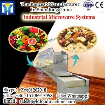 Microwave drying and puffing machine for patato chips