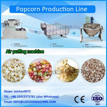 200kg/h Caramel Continuous Popcorn Processing Line for hot air popcorn
