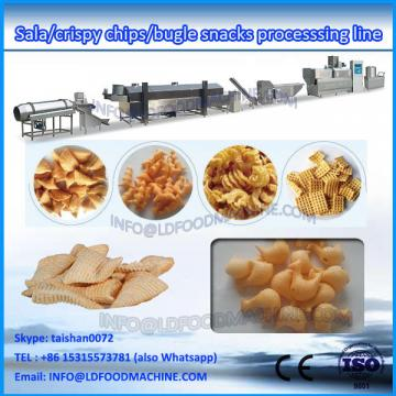 automatic frying bugles snacks food extruder make machinery processing line