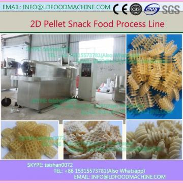 China products low price 2D pellet puffed Snacks extruder equipment