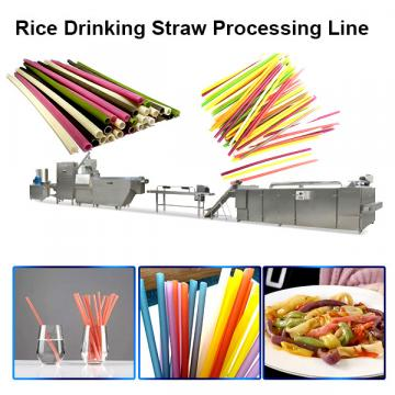 2020 most popular eco-friendly Pasta Rice Straws Making Machinery Edible Rice Drinking Straws extruder