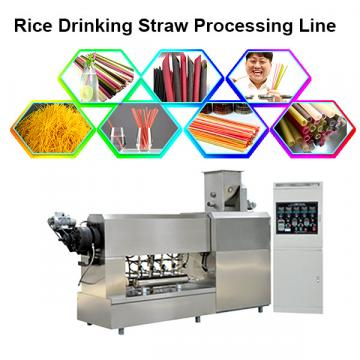 New material edible rice tapioca sucking tube equipment pasta straw process line rice flour drink pipe extruder