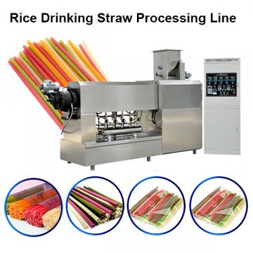 Non Plastic Drinking Straw Extruder Processing Machinery Rice Pasta Straws Manufacturing Line